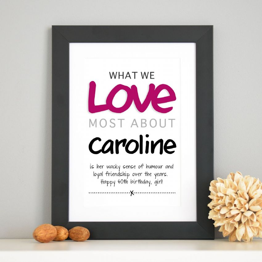 Personalised 'Love Most' Print